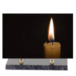 FUNERAL PLATE CANDLE ALTUGLAS 30 * 20 OR 25 * 35 BASIC