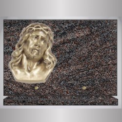 PLAQUE GRANIT RECTANGLE PARADISO BRONZE CHRIST