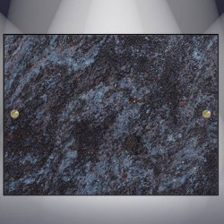 DECORATIVE PLATE GRANITE MASS BLUE