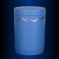FUNERAL URN immersible BLUE