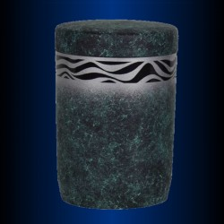 FUNERAL URN immersible GREEN