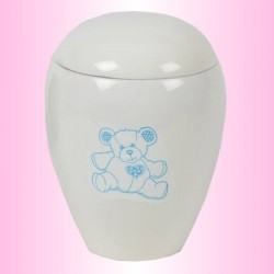 FUNERAL URN CHILD - BLUE BEAR