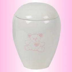 FUNERAL URN CHILD - PINK BEAR