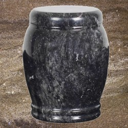 FUNERAL URN NATURAL STONE - ANTHRACITE