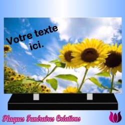 FUNERAL ALTUGLAS RECTANGULAR PLATE - SUNFLOWER