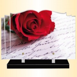 FUNERAL PLATE RED ROSE - BOOK ALTUGLAS