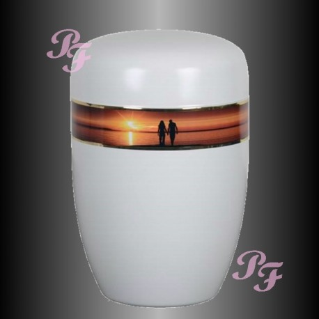 FUNERAL URN STAINLESS STEEL - SUNSET
