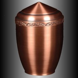 FUNERAL URN COPPER - OAK LEAF