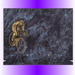 FUNERAL PLATE ON BASE AND BRONZE CUSTOM GRANITE - GRANITE COLORS 12 + LARGE BRONZE SELECTION
