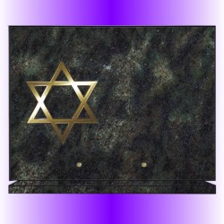 FUNERAL PLATE ON BASE BRONZE + RELIGION JEWISH CUSTOM - 12 GRANITE COLOURS