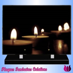 FUNERAL PLATE ZEN CANDLE