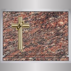 PLAQUE GRANIT NOIR MARLIN RECTANGLE-BRONZE CROIX
