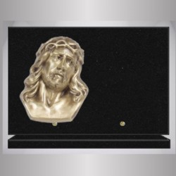 PLAQUE GRANIT NOIR MARLIN RECTANGLE-BRONZE GD CHRIST