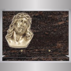 RECTANGLE PLATE GRANITE - HIMALAYAN BLUE BRONZE CHRIST