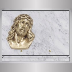 PLAQUE GRANIT RECTANGLE - MARBRE BLANC GRAND CHRIST
