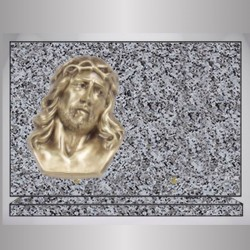 PLAQUE GRANIT RECTANGLE - TARN BRONZE CHRIST